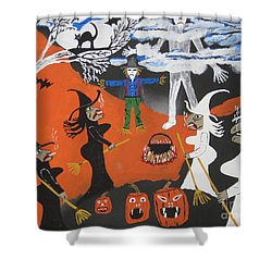 Smokey Halloween Shower Curtain by Jeffrey Koss