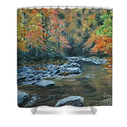 Smokey Mountain Autumn Shower Curtain by Stanton Allaben