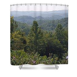 Smokey Mountain Sentinel Shower Curtain