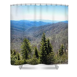 Smokey Mountains Pan Shower Curtain