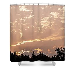 Smokey Skies Sunset Shower Curtain by Melanie Lankford Photography