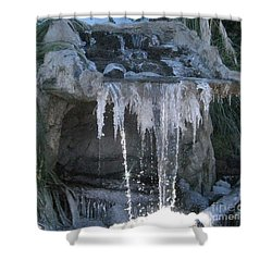Smokey Stoves Frozen Falls Shower Curtain