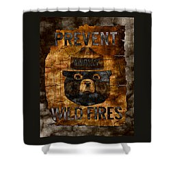 Smokey The Bear Only You Can Prevent Wild Fires Shower Curtain