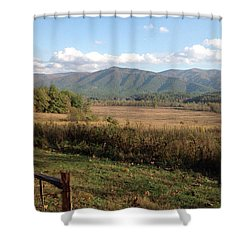 Smokies 1 Shower Curtain by Val Oconnor
