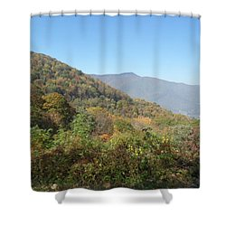 Smokies 11 Shower Curtain by Val Oconnor
