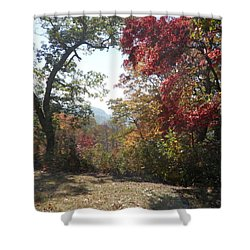Smokies 12 Shower Curtain by Val Oconnor