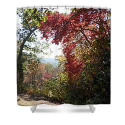 Smokies 13 Shower Curtain by Val Oconnor