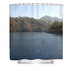 Smokies 14 Shower Curtain by Val Oconnor