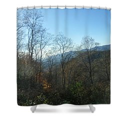 Smokies 15 Shower Curtain by Val Oconnor