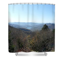 Smokies 16 Shower Curtain by Val Oconnor