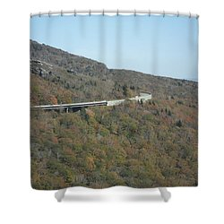 Smokies 17 Shower Curtain by Val Oconnor