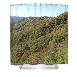 Smokies 19 Shower Curtain by Val Oconnor