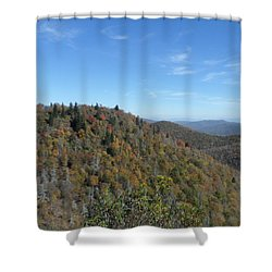 Smokies 7 Shower Curtain by Val Oconnor