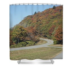 Smokies 9 Shower Curtain by Val Oconnor