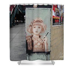 Smoking Girl  Shower Curtain by Cole Thompson