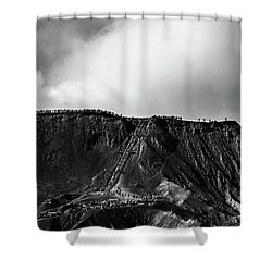 Smoking Volcano Shower Curtain