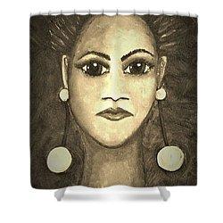 Smoking Woman 1 Shower Curtain