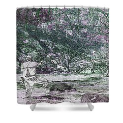 Shower Curtain featuring the photograph Smoky Mountain Fisherman by Mike Eingle