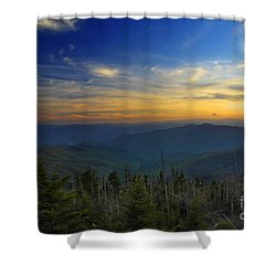 Smoky Mountain Sunset Shower Curtain