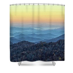 Smoky Mountains Shower Curtain by Nancy Landry