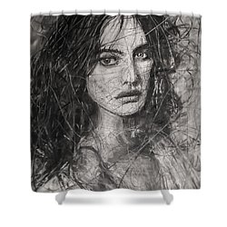 Smoky Noir... Ode To Paolo Roversi And Natalia Vodianova  Shower Curtain