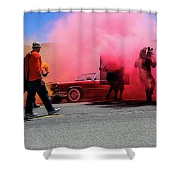Smoky Shower Curtain by Robert Hebert