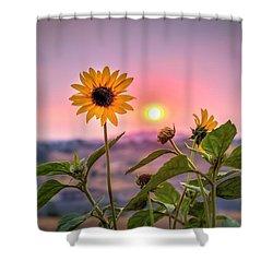 Smoky Summer Flower Shower Curtain