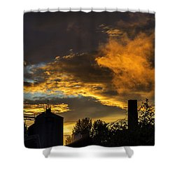 Shower Curtain featuring the photograph Smoky Sunset by Jeremy Lavender Photography