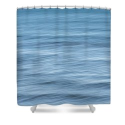 Smooth Blue Abstract Shower Curtain by Terry DeLuco