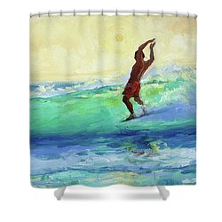 Smooth Glide Shower Curtain by Jenifer Prince
