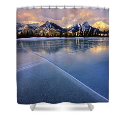 Smooth Ice Shower Curtain by Dan Jurak