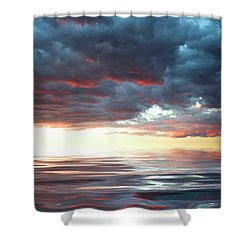 Smooth Sailing Shower Curtain by Jerry McElroy