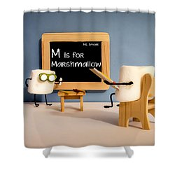 Smore School Shower Curtain by Heather Applegate