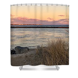 Smugglers Beach Sunset II Shower Curtain