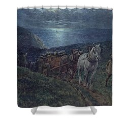 Smugglers Shower Curtain by William Barnes Wollen