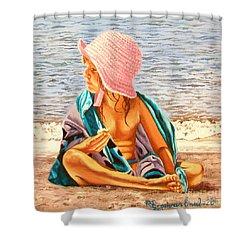 Snack Time - Merienda Shower Curtain