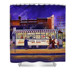 Snack Wagon Shower Curtain