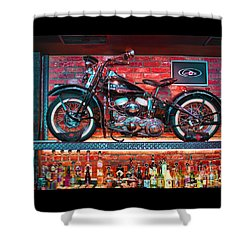 Snackbar Shower Curtain by Graham Hawcroft pixsellpix