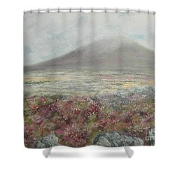 Snaefell Heather Shower Curtain by Stanza Widen