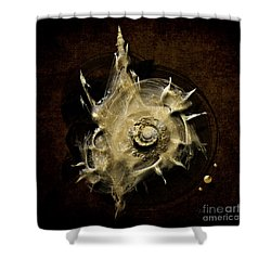Shower Curtain featuring the painting Sea Shell by Alexa Szlavics