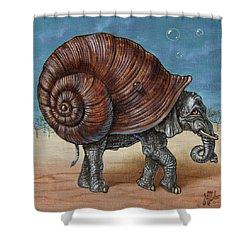 Snailephant Shower Curtain