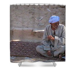 Snake Charmer Shower Curtain by John Malone
