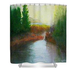 Snake River Canoe Trip Shower Curtain