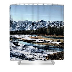 Snake River Shower Curtain by Jim Hill