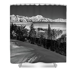Snake River Overlook-winter Scene 79 Shower Curtain