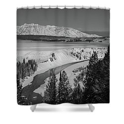 Snake River View Shower Curtain
