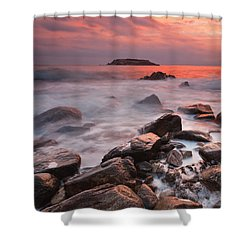 Snake's Island Shower Curtain by Evgeni Dinev