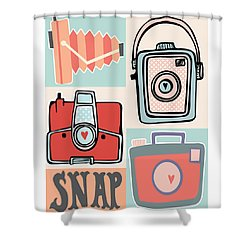 Snap - Vintage Cameras Shower Curtain