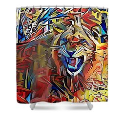 Snarling Lion Shower Curtain