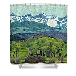 Sneffels Range Spring Shower Curtain